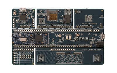 Image of Cypress Semiconductor's CY8CPROTO-062-4343W PSoC 6 Wi-Fi/Bluetooth Evaluation Board